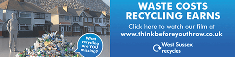 West Sussex Waste costs, recycling earns banner ad and link to movie clip